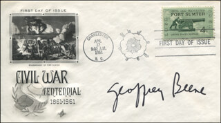 GEOFFREY BEENE - FIRST DAY COVER SIGNED