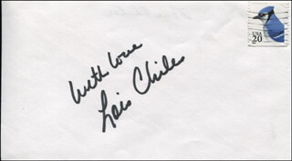 LOIS CHILES - AUTOGRAPH SENTIMENT SIGNED
