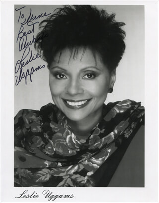 LESLIE UGGAMS - INSCRIBED PRINTED PHOTOGRAPH SIGNED IN INK