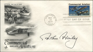 ARTHUR HAILEY - FIRST DAY COVER SIGNED