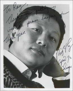 BRIGHT SHENG - AUTOGRAPHED INSCRIBED PHOTOGRAPH 04/1992