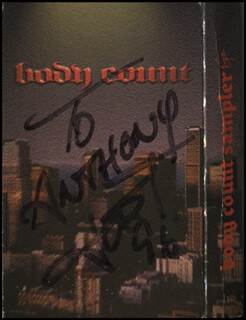 ICE-T - INSCRIBED CASSETTE SET COVER SIGNED