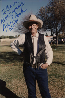 ANCEL COOK - AUTOGRAPHED INSCRIBED PHOTOGRAPH 05/11/1991