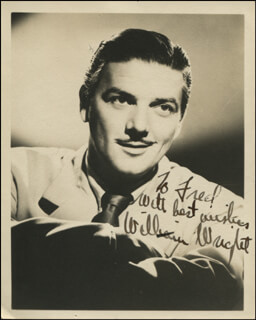 WILLIAM WRIGHT - AUTOGRAPHED INSCRIBED PHOTOGRAPH
