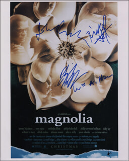 MAGNOLIA MOVIE CAST - AUTOGRAPHED SIGNED PHOTOGRAPH CO-SIGNED BY: WILLIAM H. MACY, JOHN C. REILLY, PHILIP SEYMOUR HOFFMAN, RICKY (RICHARD JAY POTASH) JAY