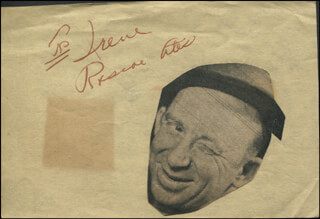 Autographs: ROSCOE ATES - INSCRIBED SIGNATURE