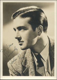 JOHN PAYNE - AUTOGRAPHED INSCRIBED PHOTOGRAPH