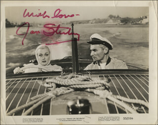JAN STERLING - PRINTED PHOTOGRAPH SIGNED IN INK