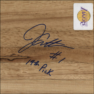 Autographs: JAVARIS CRITTENTON - EPHEMERA SIGNED