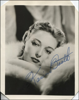 KARIN BOOTH - AUTOGRAPHED SIGNED PHOTOGRAPH