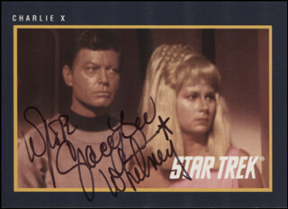 GRACE LEE WHITNEY - TRADING/SPORTS CARD SIGNED