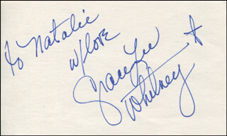 GRACE LEE WHITNEY - AUTOGRAPH NOTE SIGNED