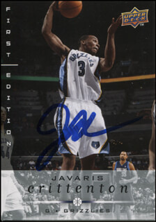 JAVARIS CRITTENTON - TRADING/SPORTS CARD SIGNED