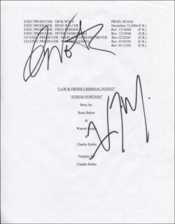 LAW AND ORDER: CRIMINAL INTENT TV CAST - SCRIPT COVER SIGNED CO-SIGNED BY: CHRIS NOTH, VINCENT D'ONOFRIO