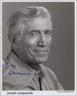 JOSEPH CAMPANELLA - INSCRIBED PRINTED PHOTOGRAPH SIGNED IN INK