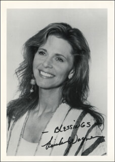 LINDSAY WAGNER - AUTOGRAPHED SIGNED PHOTOGRAPH