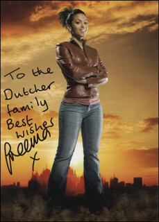 Autographs: FREEMA AGYEMAN - INSCRIBED PRINTED PHOTOGRAPH SIGNED IN INK
