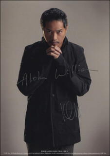 KEN LEUNG - INSCRIBED PRINTED PHOTOGRAPH SIGNED IN INK