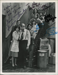 FISH TV CAST - AUTOGRAPHED INSCRIBED PHOTOGRAPH CO-SIGNED BY: FLORENCE STANLEY, ABE VIGODA, TODD BRIDGES, BARRY GORDON, DENISE MILLER