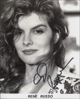 RENE RUSSO - PRINTED PHOTOGRAPH SIGNED IN INK