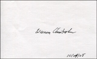 Autographs: WARREN M. CHRISTOPHER - SIGNATURE(S) 10/29/2008
