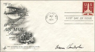 Autographs: WARREN M. CHRISTOPHER - FIRST DAY COVER SIGNED