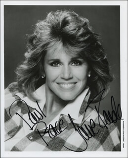 JANE FONDA - INSCRIBED PRINTED PHOTOGRAPH SIGNED IN INK