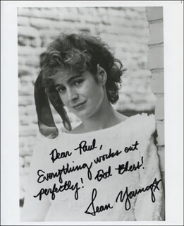 SEAN YOUNG - AUTOGRAPHED INSCRIBED PHOTOGRAPH