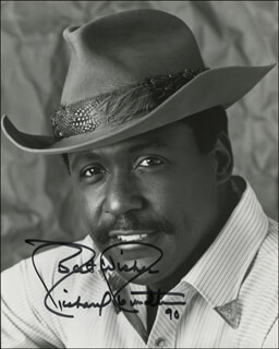 RICHARD ROUNDTREE - AUTOGRAPHED SIGNED PHOTOGRAPH 1990