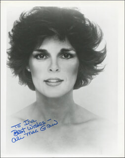 ALI MacGRAW - AUTOGRAPHED INSCRIBED PHOTOGRAPH