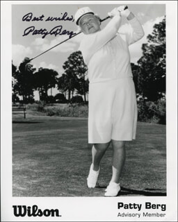 Autographs: PATTY BERG - PRINTED PHOTOGRAPH SIGNED IN INK