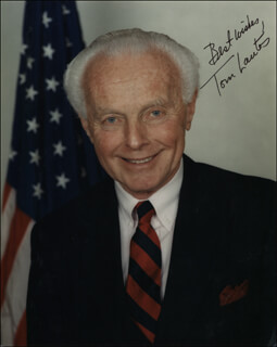 TOM LANTOS - AUTOGRAPHED SIGNED PHOTOGRAPH