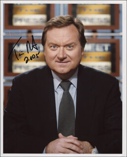 TIM RUSSERT - AUTOGRAPHED SIGNED PHOTOGRAPH 2005