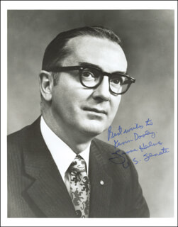 Autographs: JESSE HELMS - INSCRIBED PHOTOGRAPH SIGNED