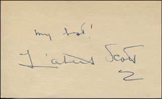 LIZABETH SCOTT - AUTOGRAPH SENTIMENT SIGNED