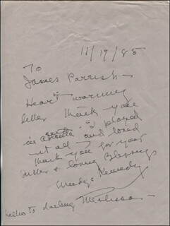 MADGE KENNEDY - AUTOGRAPH LETTER SIGNED 11/17/1985
