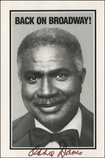 OSSIE DAVIS - PRINTED PHOTOGRAPH SIGNED IN INK