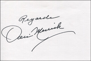 DORIS MERRICK - AUTOGRAPH SENTIMENT SIGNED