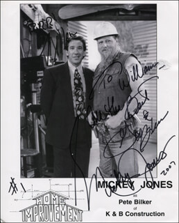 MICKEY JONES - INSCRIBED PRINTED PHOTOGRAPH SIGNED IN INK
