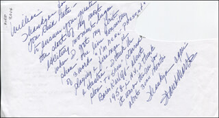 FRANK MARTH - AUTOGRAPH LETTER SIGNED