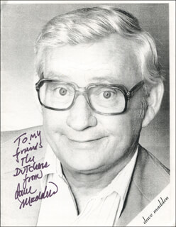 DAVE MADDEN - INSCRIBED PRINTED PHOTOGRAPH SIGNED IN INK