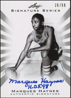 Autographs: MARQUES HAYNES - TRADING/SPORTS CARD SIGNED