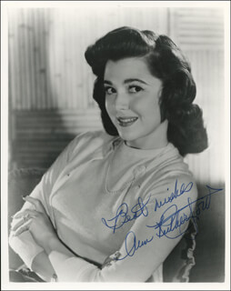 ANN RUTHERFORD - AUTOGRAPHED SIGNED PHOTOGRAPH
