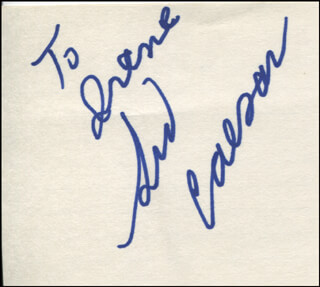 SID CAESAR - INSCRIBED SIGNATURE