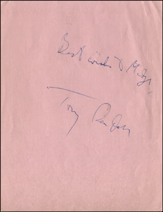 TONY RANDALL - AUTOGRAPH NOTE SIGNED