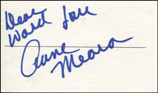 ANNE MEARA - AUTOGRAPH NOTE SIGNED