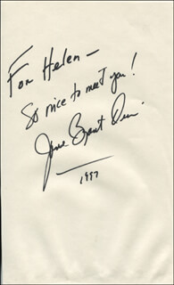 JANE BRYANT QUINN - AUTOGRAPH NOTE SIGNED 1997