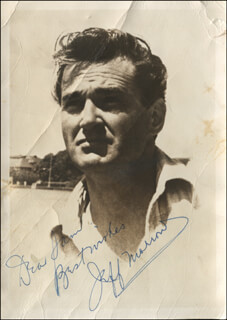 JEFF MORROW - AUTOGRAPHED INSCRIBED PHOTOGRAPH