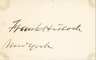 FRANK HISCOCK - AUTOGRAPH