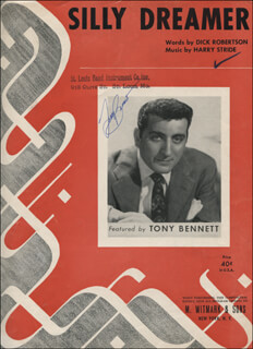TONY BENNETT - SHEET MUSIC SIGNED